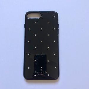 KATE SPADE Black and Rhinestone iPhone 6/6s + case